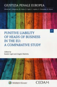 Copertina di 'Punitive liability of heads of business in the EU: a comparative study'