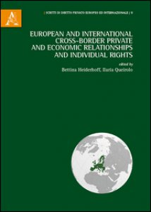 Copertina di 'European and international cross-border private and economic relationships, and individual rights'