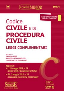 Copertina di 'Codice civile e di procedura civile minor'