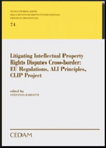 Copertina di 'Litigating Intellectual Property Rights Disputes Cross-Border:Eu Regulations, Ali Principles, CLIP Project'