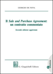 Copertina di 'Il sale and purchase agreement: un contratto commentato. Lezioni di diritto civile 2009. Con e-book'