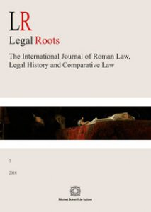 Copertina di 'LR. Legal roots. The international journal of roman law, legal history and comparative law (2018)'