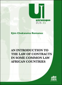 Copertina di 'An introduction to the law of contracts in some common law african countries'