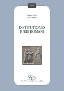 Copertina di 'Institutiones iuris romani'