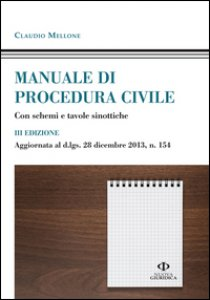Copertina di 'Manuale di procedura civile'
