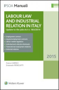Copertina di 'Labour law and industrial relation in Italy. Update to the jobs act n. 183/2014'