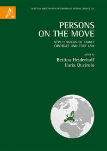 Copertina di 'Persons on the move. New horizons of family, contract and tort law'