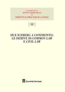 Copertina di 'Due iceberg a confronto. Le derive del common law e civil law. Atti del 20° Seminario'
