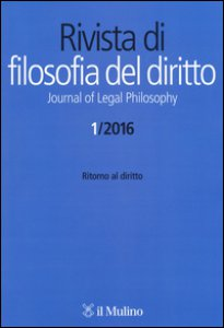 Copertina di 'Rivista di filosofia del diritto. Journal of Legal Philosophy (2016)'