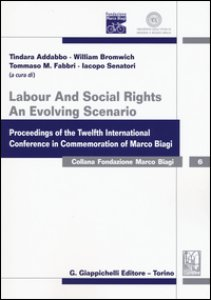 Copertina di 'Labour and social rights. An evolving scenario proceedings of the twelfth international conference in commemoration of Marco Biagi'