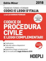 Codice di procedura civile 2018. Ediz. minore