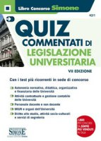 Quiz commentati di legislazione universitaria