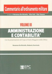 Copertina di 'Commentario all'ordinamento militare vol.3'