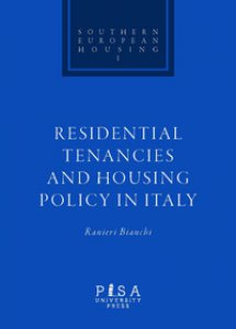 Copertina di 'Residential tenacies and housing policy in Italy'