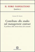 Contributo allo studio sul management contract - Di Amato Alessio