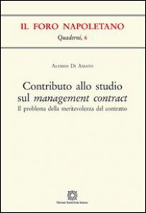 Copertina di 'Contributo allo studio sul management contract'
